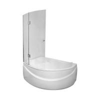 Душевые шторки радиальные на угловую ванну