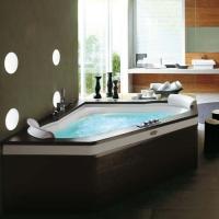Jacuzzi Aura Corner Stone/Wood Ванна гидромассажная 160x160