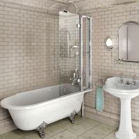 Burlington Quadrant C10 Шторка на ванну 85x145 см