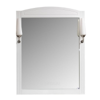 Aquanet Британика Зеркало со светильниками для ванной 90 см