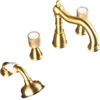 Boheme 395-Royal-CRST Смеситель на борт ванны, золото