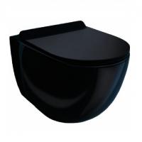 Esbano Garcia black Унитаз подвесной безободковый