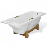 Эстет Камелия Ванна прямоугольная на деревянной подставке 180x75