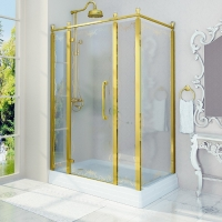 Fra Grande Лоренцо Душевое ограждение 90x140 см Gold