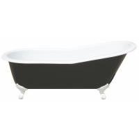 Magliezza Gracia black Ванна чугунная на ножкаx 170x76 см