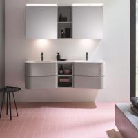 Burgbad Badu Мебель для ванной 152 см, цвет F3692 лен серый глян