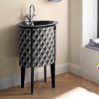 Burgbad Diva 2.0 Мебель для ванной 59 см, Цвет антрацит с ромбов