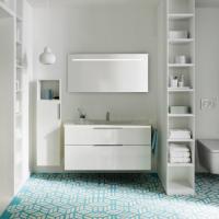 Burgbad Eqio Мебель для ванной 123 см, цвет белый глянц F2009