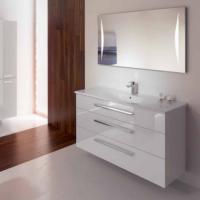 Burgbad Essento Мебель для ванной 123 см, цвет: белый высоглянц