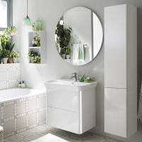 Burgbad Iveo Мебель для ванной 80 см, F2833 белый глянц