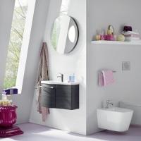 Burgbad Sinea 1.0 Мебель для ванной 66 см левая, цвет черный