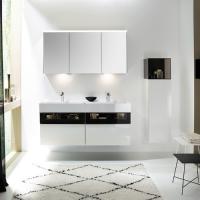 Burgbad Yumo Мебель для ванной 132 см, цвет белый гл.
