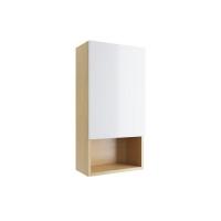 Excellent Шкаф подвесной с дверцей 40 см Tuto (белый/дуб) левый