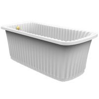 Migliore Olivia Console Ванна 174x83, белая, панель белая, консо