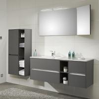 Pelipal 6010 Мебель для ванной 133 см, серый матовый
