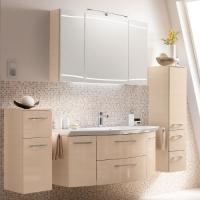 Pelipal Cassca Мебель для ванной 121 см, бел.пин. с попер структ