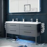 Pelipal Solitaire 9025 Мебель для ванной 158 см, серый матовый