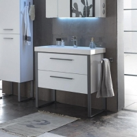 Pelipal Solitaire 9025 Мебель для ванной 84 см, белый глянц.