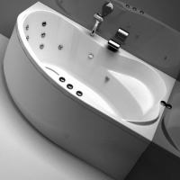 Aquanet Capri Ванна гидро-аэромассажная 170x110 R/L