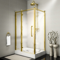 Fra Grande Лоренцо Душевое ограждение 90x120 см Gold