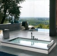 Jacuzzi Aura Uno Design Stone ванна встраиваемая 180x90 см