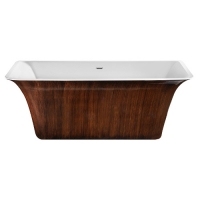 Lagard Evora Brown wood Ванна акриловая 160x77