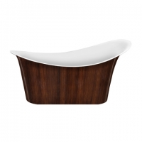 Lagard Tiffany Brown wood Ванна акриловая 175x82