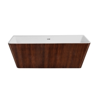 Lagard Vela Brown wood Ванна акриловая 168x80