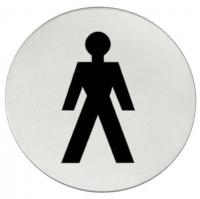 Vsi Sanitary «Мужчины» - Matt Steel Информационная табличка