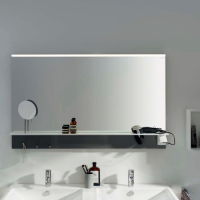 Burgbad Eqio Зеркало с полкой 1200х769х150 мм, серый F2010