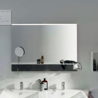 Burgbad Eqio Зеркало с полкой 900х769х150 мм, серый F2010