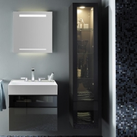 Burgbad Yumo Шкаф подвесной высокий 350х320х1760 мм, с подсветко